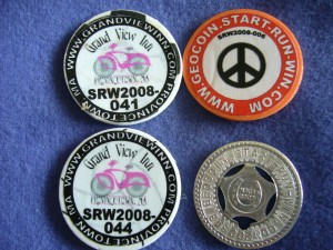 Start-Run-Win geocoins, second set