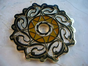 Celtic Sun Geocoin Gold