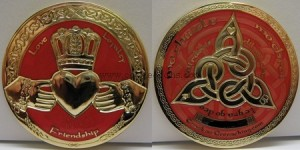 Red Claddagh Geocoin
