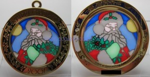 Santa Suncatcher geocoin