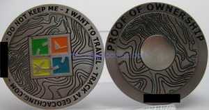 inside the Ice Rose Geocoin