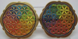 front flower of life geocoin 300x150 Flower of Life Geocoin