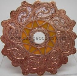 suncatcher bronze Celtic Sun GeoCoin.